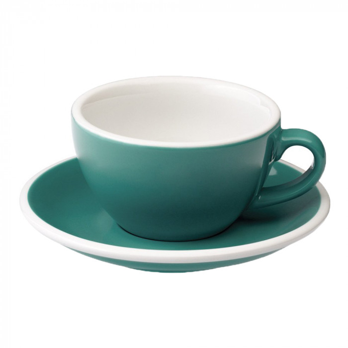 """Cappuccino cup with a saucer Loveramics """"Egg Teal"""", 250 ml"""