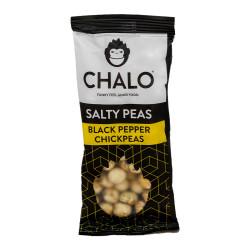 """Sūdytų pupelių užkandis Chalo """"Black Pepper Chickpeas"""", 40 g"""