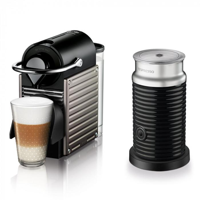 "Coffee machine Krups ""XN301T40 Pixie Titanium"""