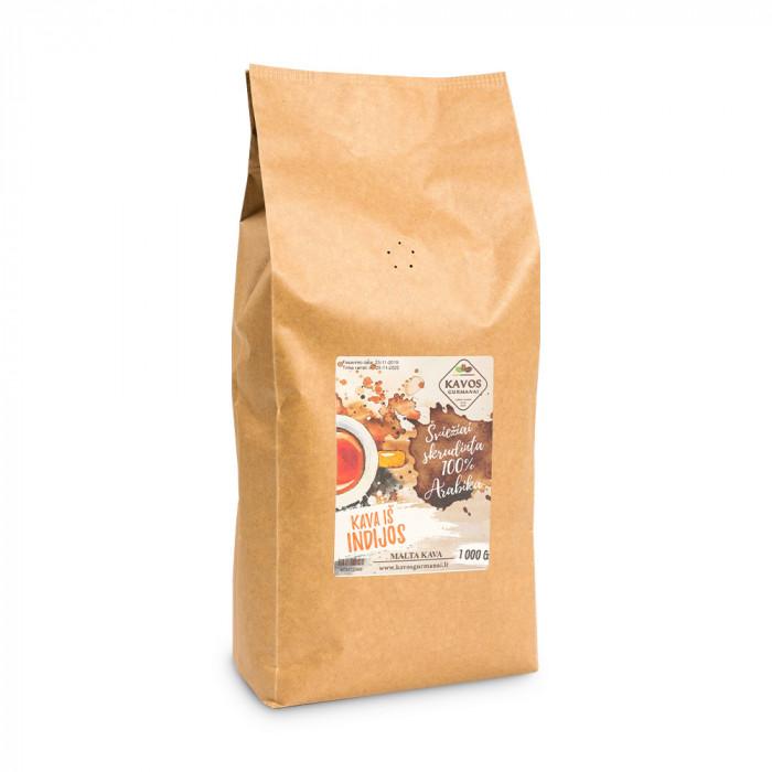 """Kavos pupelės Kavos Gurmanai """"India AA"""", 1 kg"""