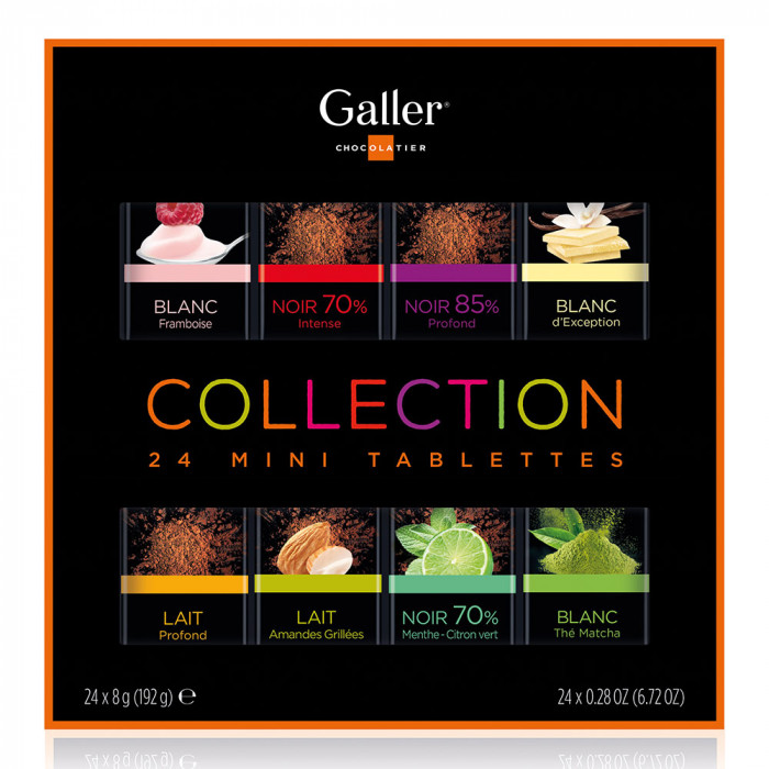 "Šokolādes tāfelīšu komplekts Galler ""Mini Tablets Collection"", 24 gab."