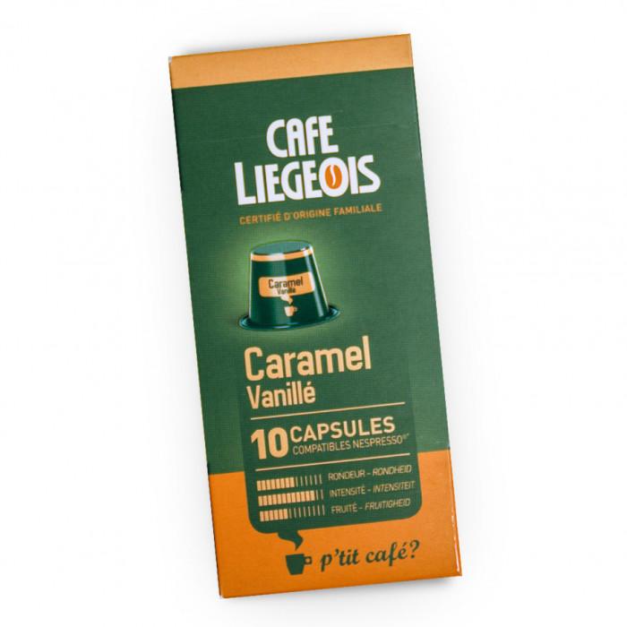 """Coffee capsules Café Liégeois """"Caramel"""", 10 pcs."""