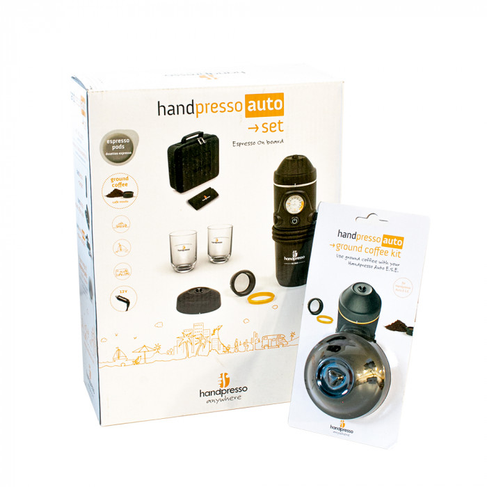 "Handpresso seatud ""Auto E.S.E + Ground Coffee Kit"""