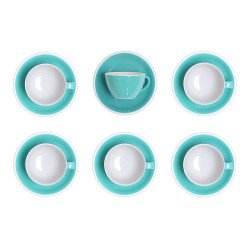 """Latte cup with a saucer Loveramics """"Egg Teal"""", 300 ml, 6 pcs."""