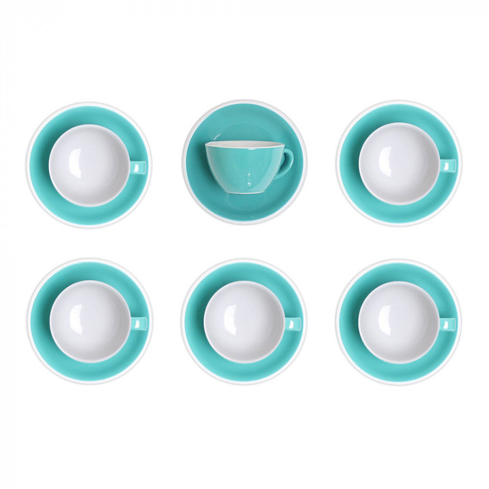 "Latte cup with a saucer Loveramics ""Egg Teal"", 300 ml, 6 pcs."