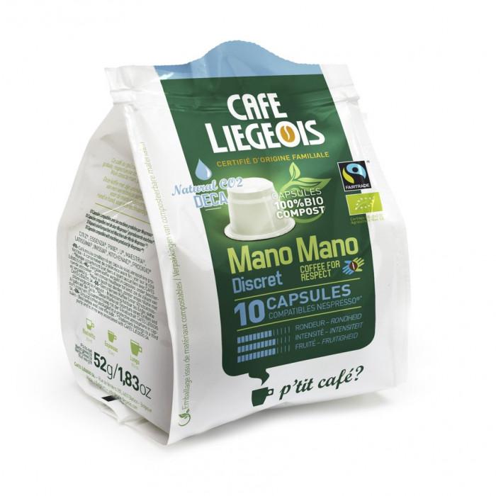 "Kohvikapslid Café Liégeois ""Mano Mano Discret Deca"", 10 tk."