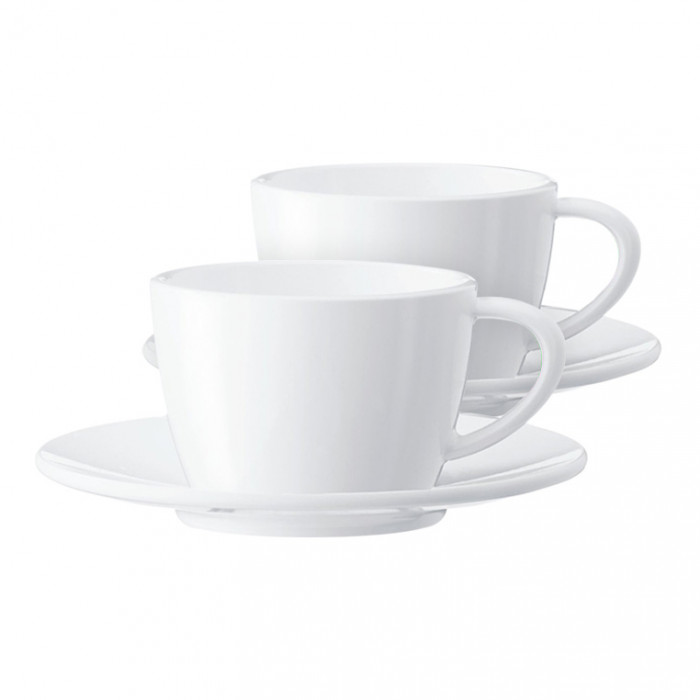 Cappuccino cup with a plate JURA (2 pc)