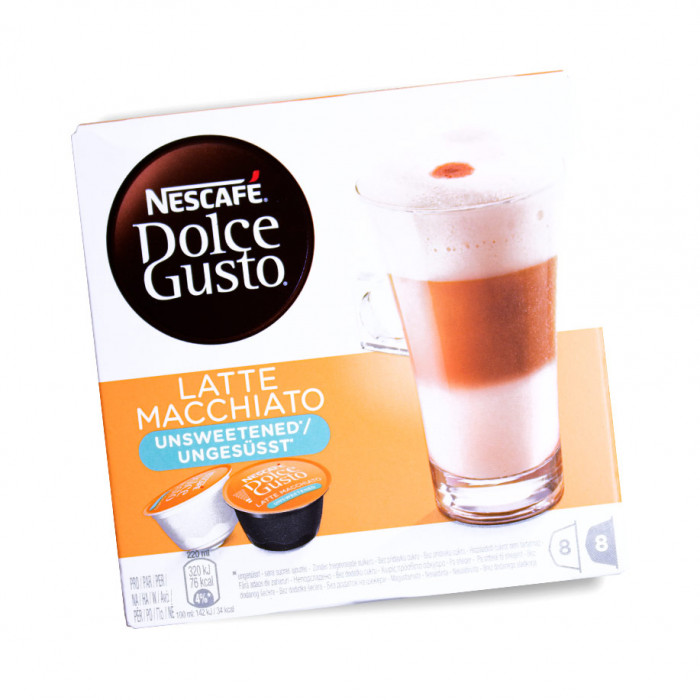 "Coffee capsules NESCAFÉ Dolce Gusto ""Latte Macchiato"", without sugar"