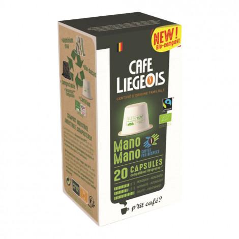 "Kohvikapslid Café Liégeois ""Mano Mano"", 20 tk."