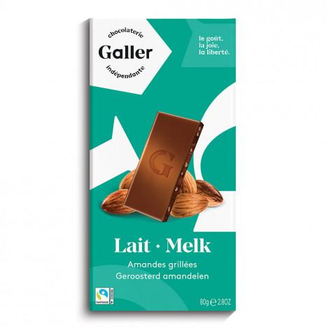 """Schokoladentafel Galler ,,Milk Almonds"""" 80 g"""
