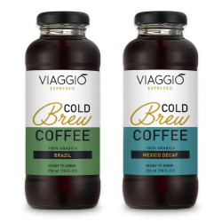 "Cold brew coffee Viaggio Espresso ""Cold Brew Brazil + Decaf"", 592 ml"