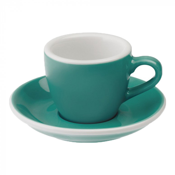 "Espressotasse mit Untertasse Loveramics ""Egg Teal"", 80 ml"