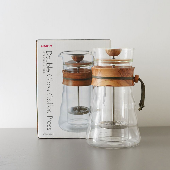 Coffee Maker Hario Quot Cafe Press Olive Wood Quot 600 Ml The