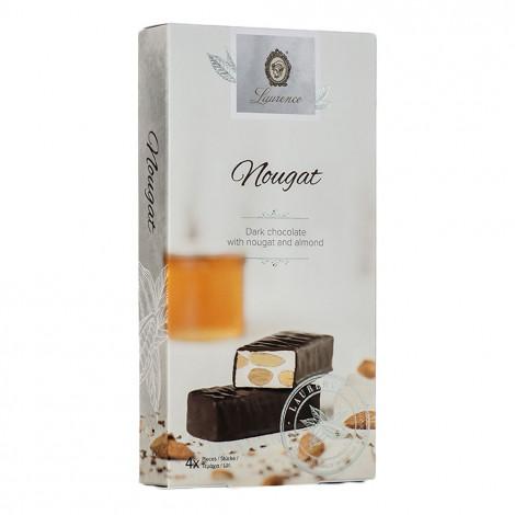"Laurence ""Classy White Nougat"" dunkle Schokolade mit Nougat und Mandeln, 4 x 32,5 g"