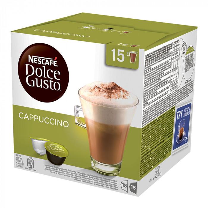 """Kahvikapselit NESCAFÉ Dolce Gusto """"Cappuccino"""", 15+15 kpl."""