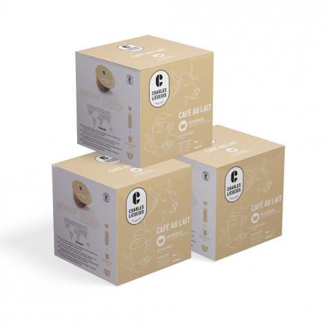 "Kaffeekapseln geeignet für Dolce Gusto®-Set Charles Liégeois ""Café au lait"", 3 x 16 Stk."