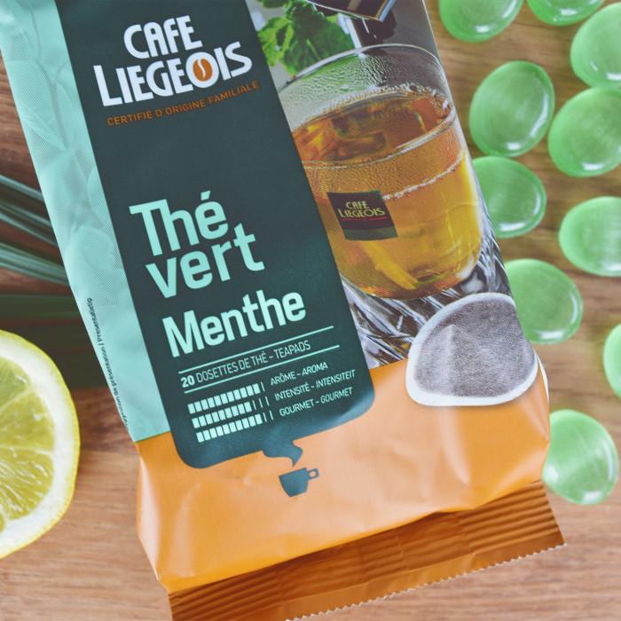 "Arbatos pagalvėlės Café Liégeois ""Green Mint"""