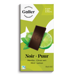 "Schokoladentablette Galler ,,Dark Mint Lime"" 80 g"