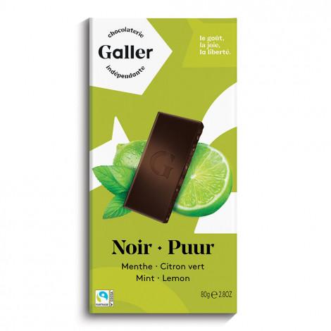 """Šokolado plytelė Galler """"Dark Mint Lime"""", 80 g"""