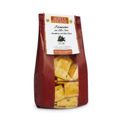 """Krekeri ar olīvām Bonta Lucane """"Focaccine"""", 200 g"""