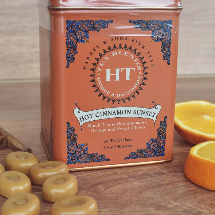 "Juodoji aromatizuota arbata Harney&Sons ""Hot Cinnamon Sunset"", 20 vnt."