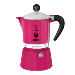 "Coffee maker Bialetti ""Moka Rainbow 3-cup Fucsia"""