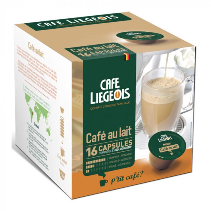 """Kavos kapsulės Café Liégeois """"Cafe au lait"""", 16 vnt."""