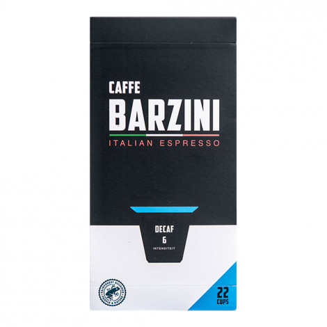 "Koffeinfreie Kaffeekapseln geeignet für Nespresso® Caffe Barzini ""Decaf"", 22 Stk."
