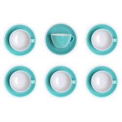 """Set von Cappuccino-Tasse mit Untertasse Loveramics """"Egg Teal"""", 200 ml, 6 Stk."""