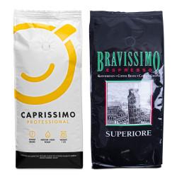 """Zestaw kawy ziarnistej """"Caprissimo Professional"""" + """"Superiore"""""""