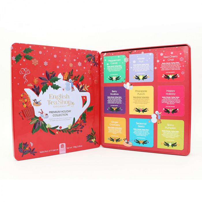 "Tea English Tea Shop ""Premium Holiday Collection Red Gift Tin – 72ct"""
