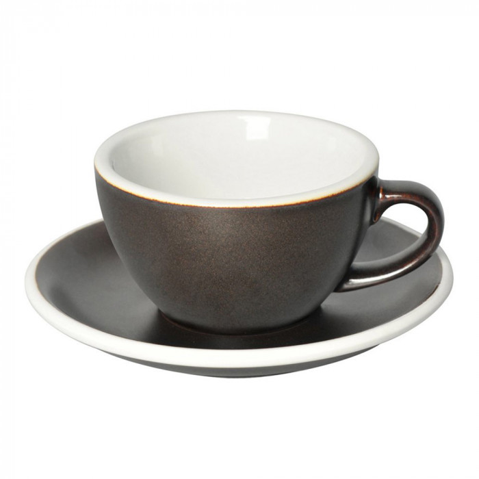 "Cappuccino cup with a saucer Loveramics ""Egg Gunpowder"", 250 ml"