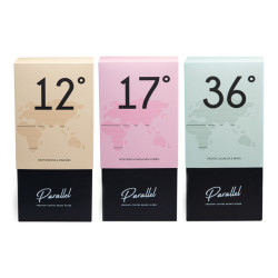 """Coffee beans set """"Parallel 12"""" + """"Parallel 17"""" + """"Parallel 36"""", in a gift box"""