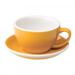"""Café Latte Tasse mit Untertasse Loveramics """"Egg Yellow"""", 300 ml"""