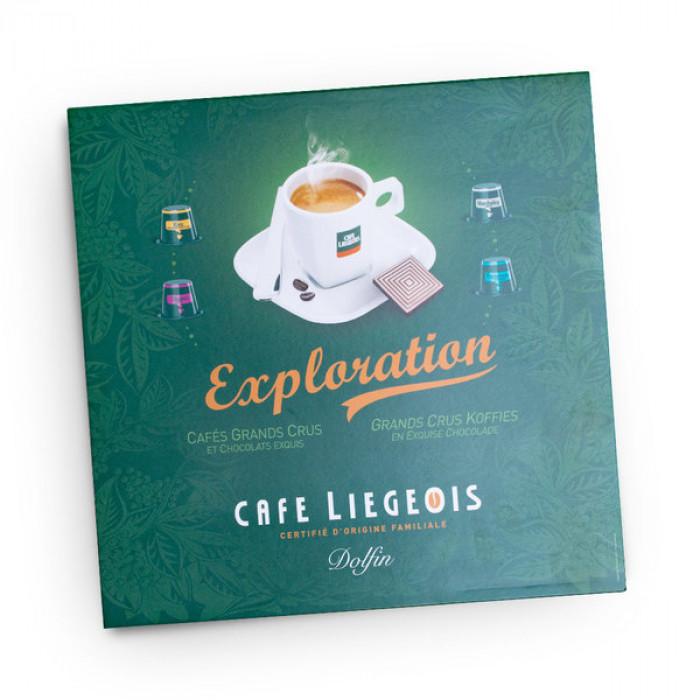 """Kafijas kaspulu degustācijas kaste Café Liégeois """"Exploration"""""""