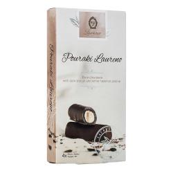 """Tume šokolaad tumedate küpsiste ja valge sarapuupähkli pralineega Laurence """"Pouraki Laureno"""", 4 x 30 g"""