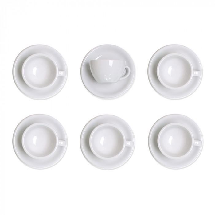 """Set von Latte-Tasse mit Untertasse Loveramics """"White"""", 300 ml, 6 Stk."""