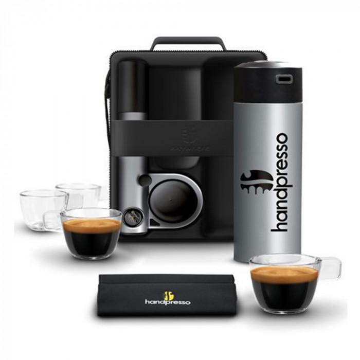 """Coffee machine Handpresso """"Pump Silver"""" set"""