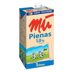 """Pienas """"MŪ"""", 1%, 1 l"""