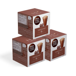 """Coffee capsules compatible with Dolce Gusto® set NESCAFÉ Dolce Gusto """"Chococino"""", 3 x 8+8 pcs."""