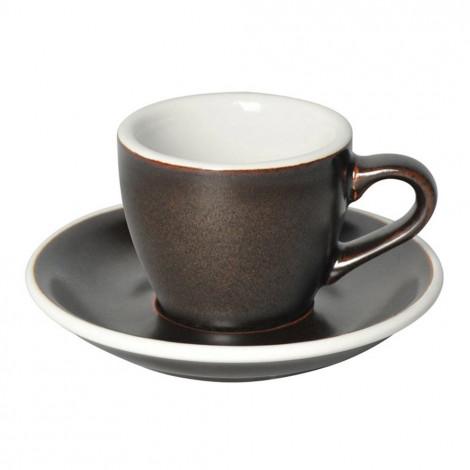 """Espresso kopje met een schoteltje Loveramics """"Egg Gunpowder"""", 80 ml"""