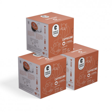 """Coffee capsules compatible with Dolce Gusto® set Charles Liégeois """"Cappuccino"""", 3 x 8+8 pcs."""