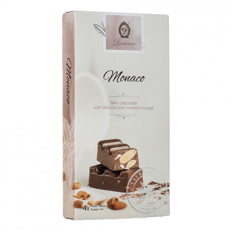 """Milk chocolate with almonds and crushed nougat Laurence """"Classy White Monaco"""", 4 x 35 g"""