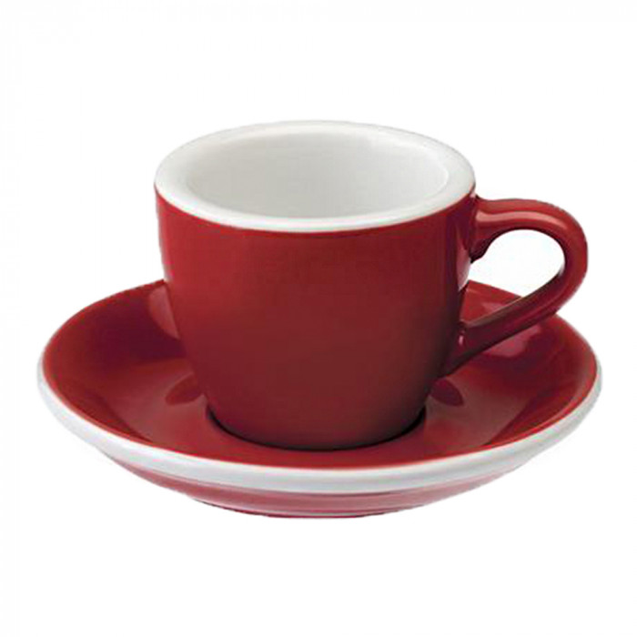 "Espressotasse mit Untertasse Loveramics ""Egg Red"", 80 ml"