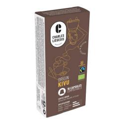 """Kafijas kapsulas Nespresso® automātiem Charles Liégeois """"Kivu"""", 10 gab."""