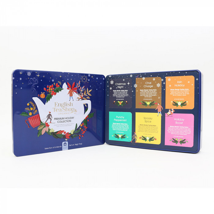 "Tee English Tea Shop ""Premium Holiday Collection North Star – Blue Gift Tin"""