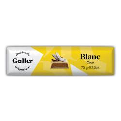Шоколадная плитка Galler «White Coconut», 70 г
