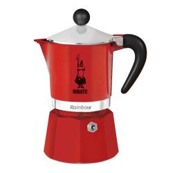 "Coffee maker Bialetti ""Moka Rainbow 3-cup Red"""