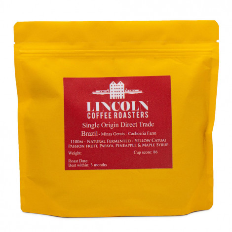 """Coffee beans Lincoln Coffee House """"Brazil Natural Fermented"""", 250 g"""