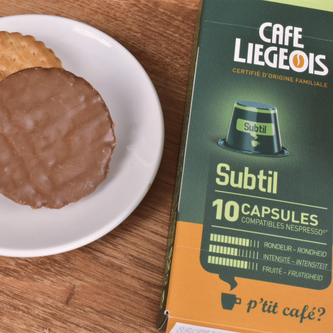 """Coffee capsules compatible with Nespresso® set Café Liégeois """"Subtil"""", 3 x 10 pcs."""